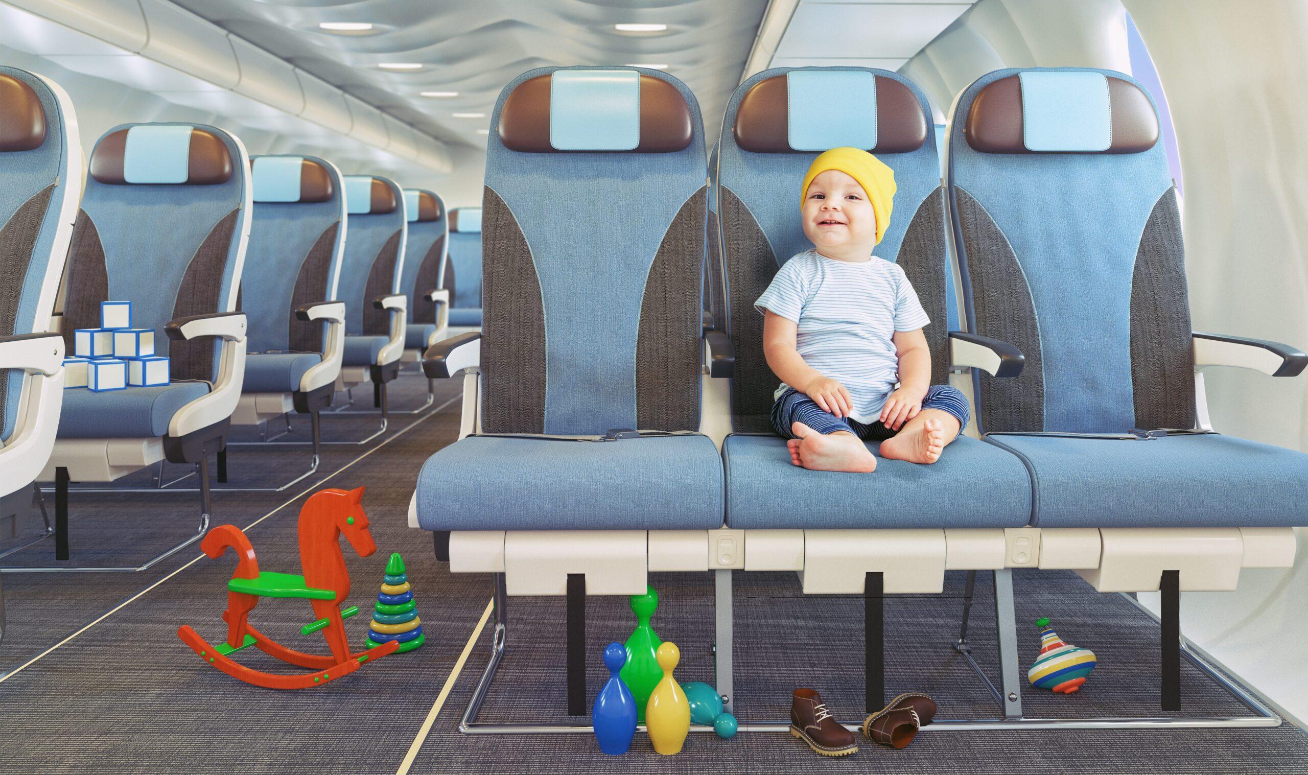 Prendre un avion long courrier avec de jeunes enfants